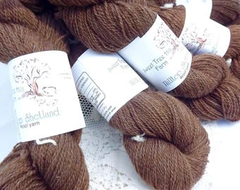 Hilltop Shetland Fingering/Sock weight-Moorit