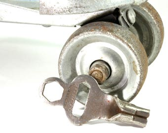 Vintage Union Hardware Co. Roller Skate Key Steampunk Jewelry Assemblage Mixed Media Key - Roller Rink Sport Key