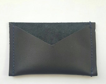 Leather card case: Black