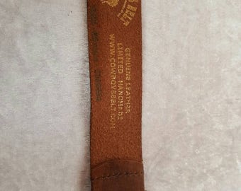 COWBOYS BROWN BELT Genuine Leather Belt Cowgirl Leather Belt Brown Leather Belt