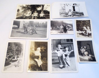 34 Vintage Photos of Babies & Children: Posing, with Tricycles, in Bassinets, Black and White Snapshots, Cute Kids!