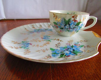 Vintage China Forget-Me-Not Tea Cup and Saucer