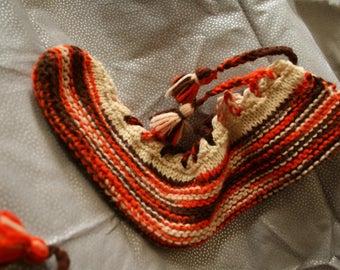 Vintage KNitted Slipper socks
