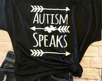 autism speaks shirt - autism awareness shirt - autism top - autism shirt