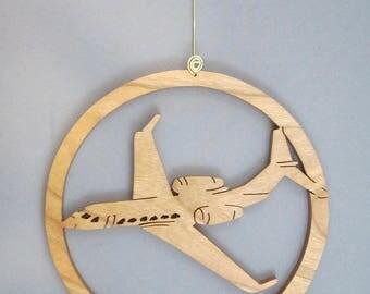 Gulfstream Airplane in Circle