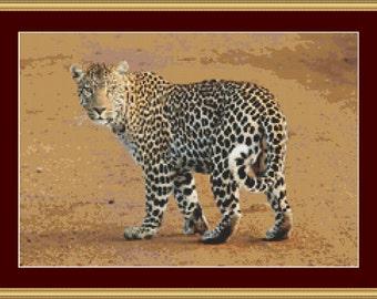 Leopard Cross Stitch Pattern