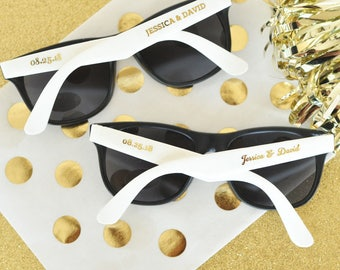 50 Personalized Sunglasses Custom Sunglasses Sunglass Favors, Destination Beach Wedding Favors SET of 24