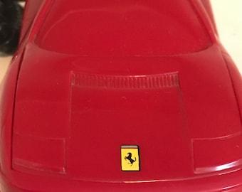Red Ferrari Telephone Car