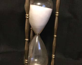 Vintage Brass Hour Glass