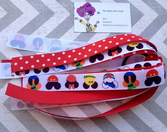 Ready to Ship Mickey Mouse Ponytail Streamer
