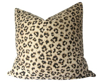 Custom Pillow Cover - Leopard Pillow Cover - Animal Print by Jaclyn Smith Home in Black and Tan - Cheetah Pillow Cover