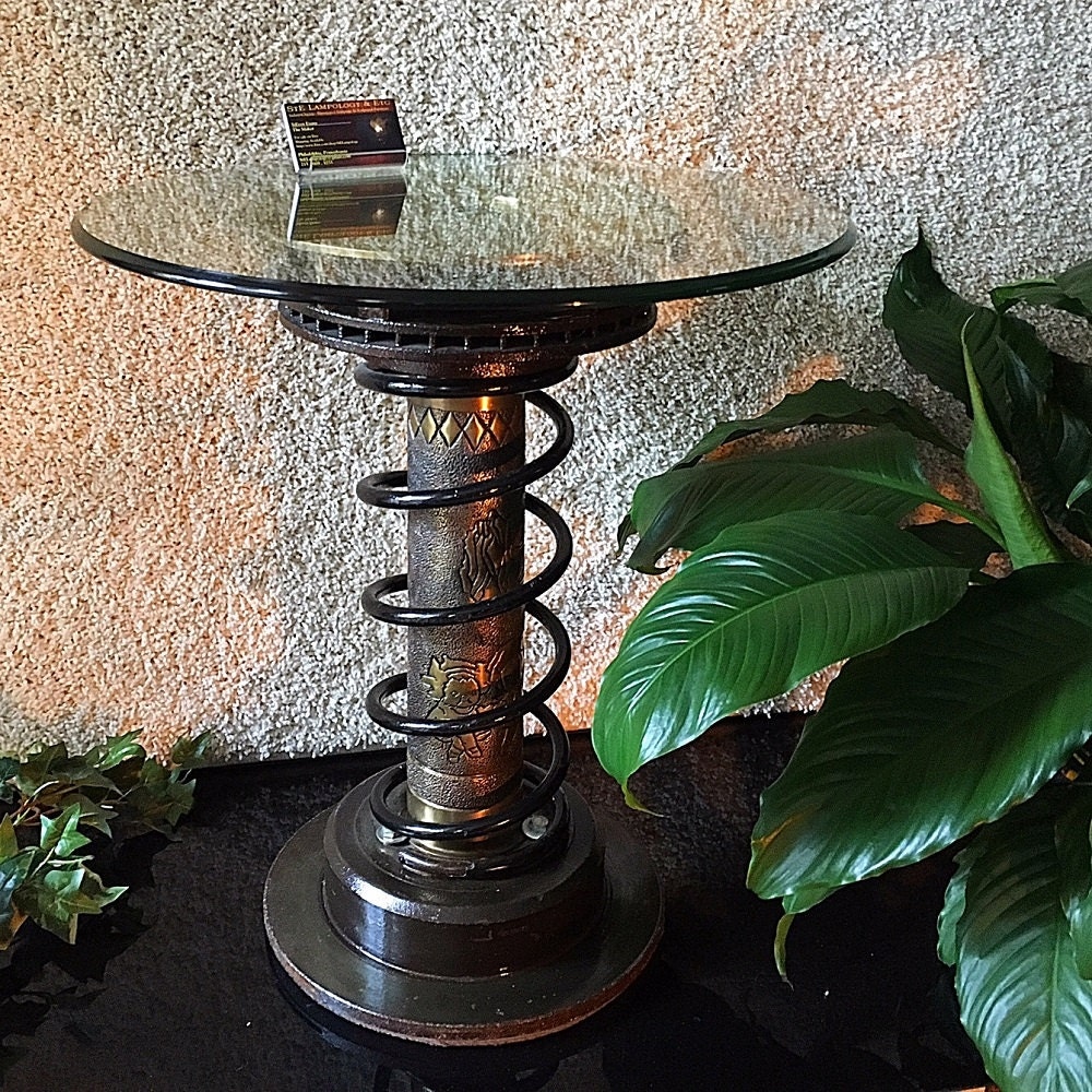 Man Cave End Table : Man cave side table industrial w mm howitzer