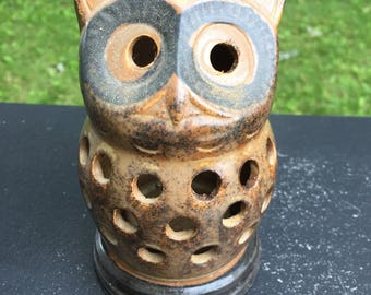 Owl incense holder