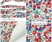 Liberty of London Tana Lawn Fabric WILTSHIRE A // Liberty Bias Binding // Bias Tape // Liberty Yardage // Fabric Felt // Felt Backed Fabric