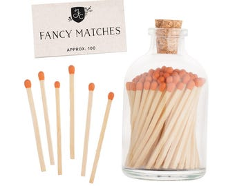Clementine Orange Matchstick Jar™. Orange Matches. Colored matches. Stocking Stuffer. Gifts for her. Hostess gift. Home decor.