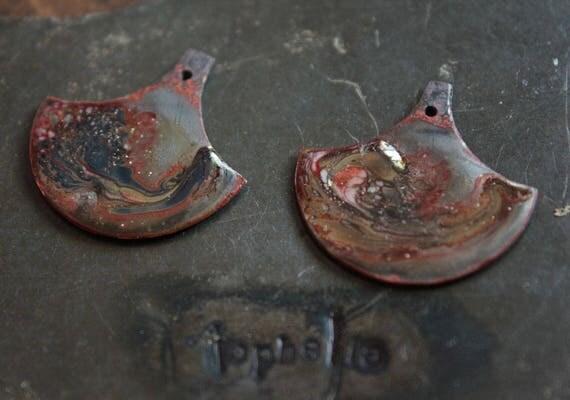 Basket Weaving Supplies Toronto : Metallic rustic swirls on matte steel glass swirl disc