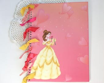 Personalized Belle notebook from Disney's Beauty and the Beast