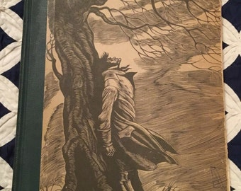 Wuthering Heights by Emily Bronte, Engravings by Fritz Eichenburg, Random House, Copyright 1923