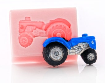 Tractor Mold - Silicone Mold - Mould - Food safe mold - Resin mold - Jewelry mold - Fondant mold - Sugar mold - Flexible mold (805)