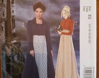 McCall's Costumes 7493: Misses' Costumes Jane Austen/Regency Dress and Spencer