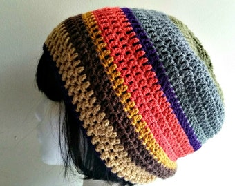Doctor Who Tom Baker Scarf Slouchy Beanie