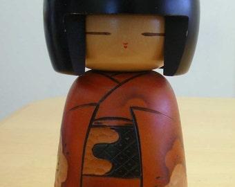 """Free shipping! Japanese Sousaku Kokeshi wooden doll 9"""""""