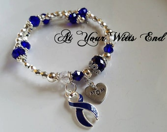 Colon Cancer Awareness Bracelet, Awareness bracelet, bracelets