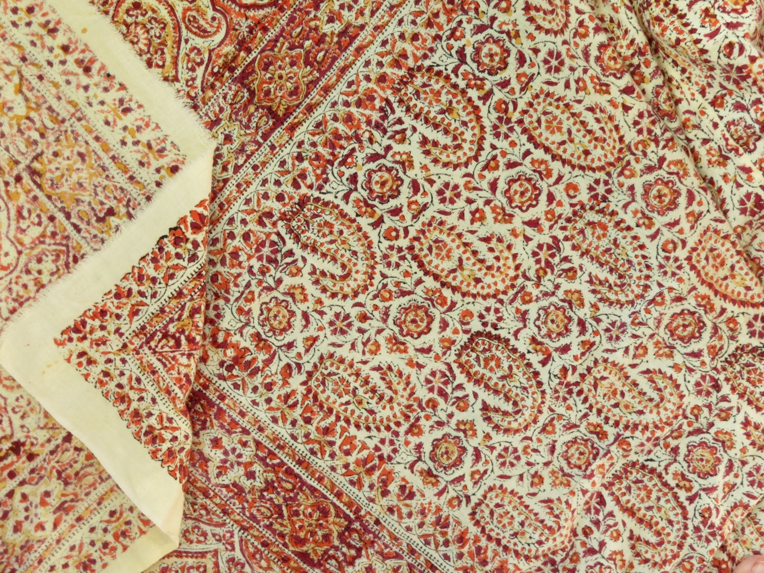 Bedspread designs texture - Vintage Original Indian Block Print Bed Spread Vintage Indian Block Print Fabric Vintage Indian Batik Bed Spread Boho Decor
