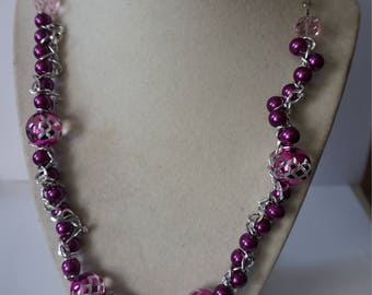 Violet and Silver Necklace