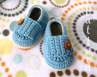 Crochet PATTERN Baby Loafers Baby Booties Baby Loafer Pattern Baby Booties Baby Girl Pattern Baby Boy Bootie Pattern Crochet Pattern