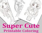 Super Cute Printable coloring pack 1