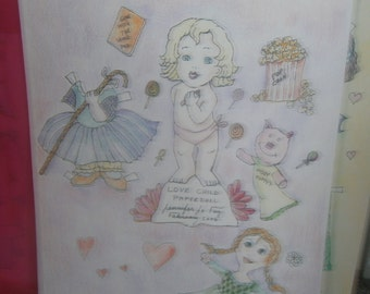 Love Child Paper Doll Set