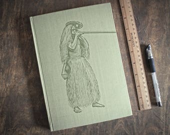 """Hardcover Guest Book, Sketchbook Tartuensis Artisan """"Yahua"""", Upcycled Journal"""