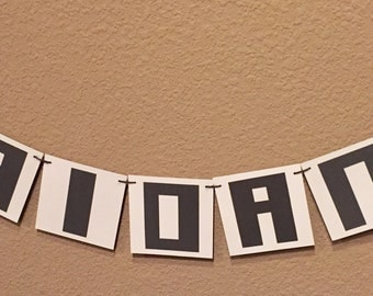 Minecraft Inspired Party Banner
