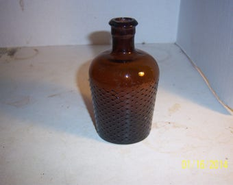 1910's Not to Be Taken 4 7/8 inch tall LYsol Type Amber Household Poison Bottle No 2