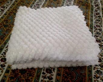 lovely white chenille pillow shams