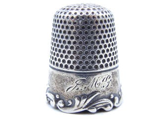 Antique Ketcham & McDougall Sterling Silver Thimble - Louis XV Pattern - Stamped KMD - Collectible # 4407