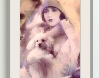 Vintage image altered art,1920s,Image Instant Download.