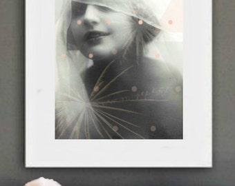 Vintage image altered art,1920s,Russian actress Vera Kholodnaya,Image Instant Download.