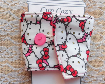 Pink Kitty Coffee Cozy