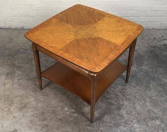 Mid-Century Modern End Table / Nightstand ~ Great Wood Top Design - SHIPPING NOT INCLUDED