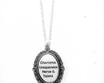 Charisma Uniqueness Nerve and Talent Cameo Necklace