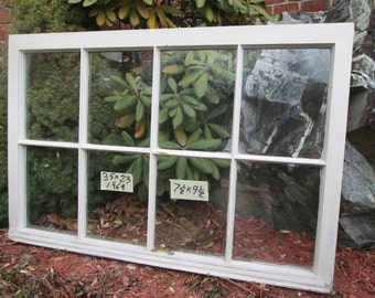 35 x 23 Vintage Window sash old 8 pane frame from 1969