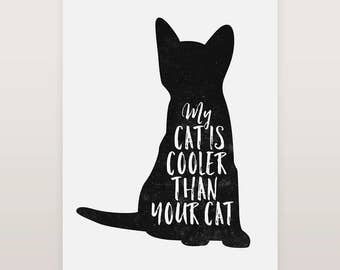 Cat Print, Whimsical Prints, Black Cat Print, Funny Quotes, Funny cat gifts, Framed art print, Animal Print, Cat Lovers, Funny Art Print