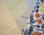 Vintage Japanese silk kimono fabric pack for craftwork patchwork quilting VP13