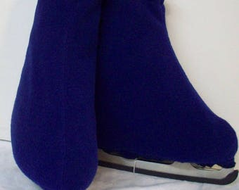 Melvage's Ice Skate Boot Warmers & Hockey Slip-over (ROYAL BLUE) Kids Size 3-5