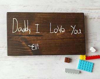 Handwriting Wood Sign - Kids Writing - Signature - Handmade - Home Decor - Nursery Decor - Gallery Wall- Custom - HAVENSPLACE