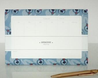 "1 weekly deskpad ""Mandrilles"" - 1 semainier ""Mandrilles"""