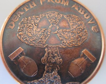 Death From Above 1 oz .999 Pure Copper Challenge Coin with Black Patina