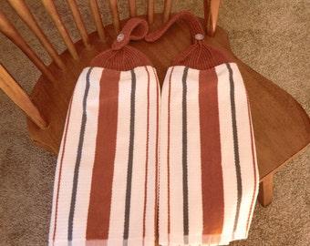 Sonoma - Rust & Cream  Knit Top Kitchen Towels